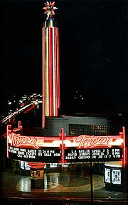 The Tower's neon Exterior- click to enlarge